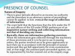 presence of counsel2