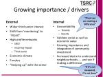 growing importance drivers