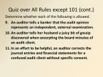quiz over all rules except 101 cont1