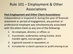 rule 101 employment other associations
