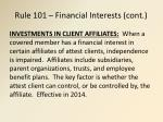 rule 101 financial interests cont7