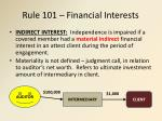 rule 101 financial interests2