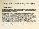 rule 203 accounting principles