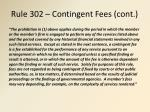 rule 302 contingent fees cont