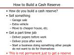 how to build a cash reserve