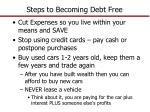 steps to becoming debt free