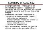 summary of agec 622