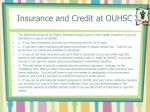 insurance and credit at ouhsc