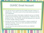 ouhsc email account
