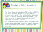 parking at other locations