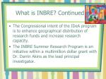 what is inbre continued