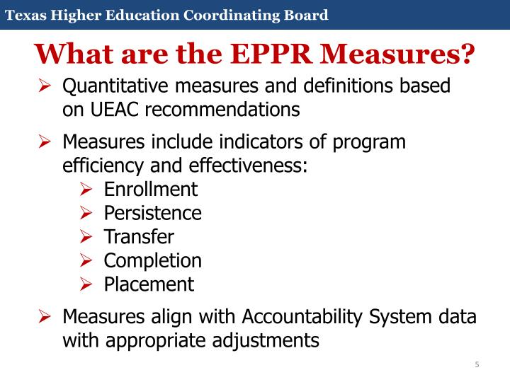 What are the EPPR Measures?