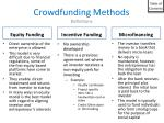 crowdfunding methods definitions