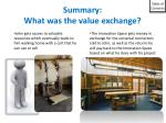 summary what was the value exchange1