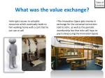what was the value exchange