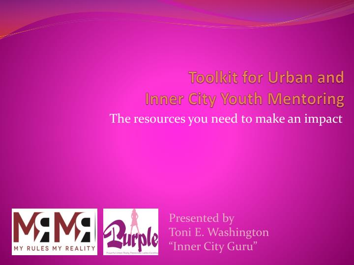 toolkit for urban and inner city youth mentoring n.