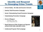 identify and respond to emerging crime trends