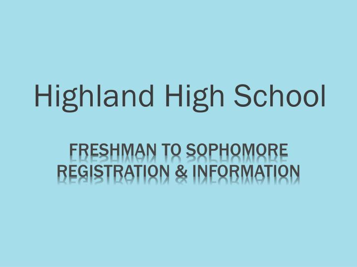 highland high school n.