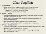 class conflicts