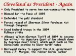 cleveland as president again