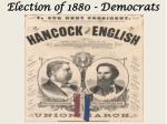 election of 1880 democrats