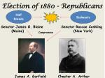 election of 1880 republicans