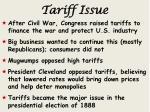 tariff issue
