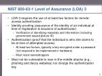 nist 800 63 1 level of assurance loa 3