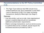 recommendations to the hit policy committee 1 3