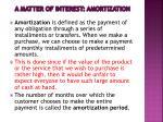 a matter of interest amortization