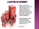 a matter of interest1