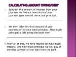 calculating amount owing debt3