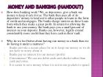 money and banking handout