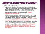 money as debt video handout