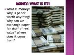 money what is it