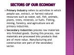 sectors of our economy