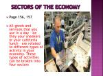 sectors of the economy