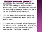 the new economy handout