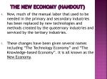 the new economy handout1