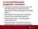a second keynesian pragmatic revolution