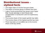 distributional issues stylized facts