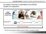 an interim voucher is submitted to the dcaa auditor for inspection