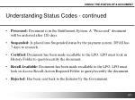 understanding status codes continued