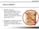 what is wawf