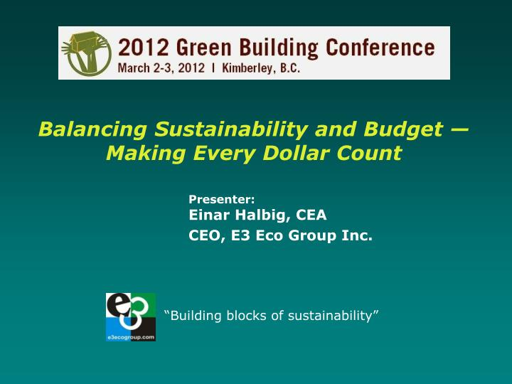 balancing sustainability and budget making every dollar count n.