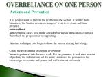 overreliance on one person3