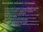 searchable schedule of classes