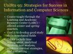 unistu 93 strategies for success in information and computer sciences