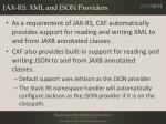 jax rs xml and json providers