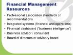 financial management resources